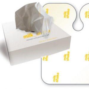 Milkshake disposable client cape in 25 pack
